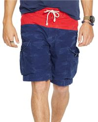 Polo Ralph Lauren - Blue Relaxed-Fit Nautical Cargo Shorts for Men - Lyst