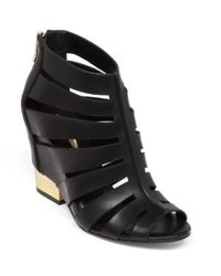 BCBGeneration | Black Charlie Leather Wedge Sandals | Lyst