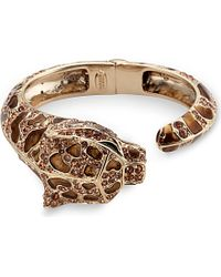 Roberto Cavalli | Metallic Jewelled Panther Cuff Bracelet | Lyst
