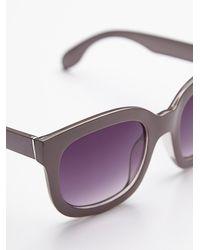 Free People - Purple Womens Maui Babe Oversized Sunglass - Lyst