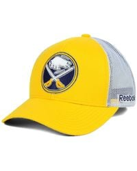 Reebok | Yellow Buffalo Sabres Jersey Hook Trucker Snapback Cap for Men | Lyst
