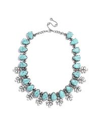 BaubleBar | Blue 'crystal Wreath' Collar Necklace - Antique Silver | Lyst