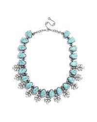 BaubleBar | Blue 'crystal Wreath' Collar Necklace - Antique Silver | Lyst