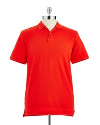 Victorinox - Red Pique Cotton Polo Shirt for Men - Lyst