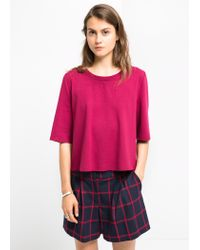Mango - Purple Boxy T-Shirt - Lyst