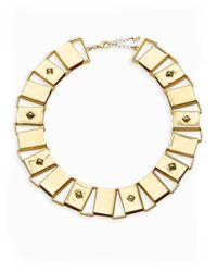 ABS By Allen Schwartz - Metallic Sensation Plaque Collar Necklace - Lyst