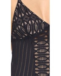 Nightcap - Black Spiral Lace One Piece Swimsuit - Lyst
