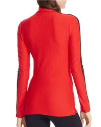 Lauren by Ralph Lauren | Red Stretch-mesh Pullover | Lyst