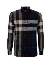 Burberry Brit Black Exploded Check Flannel Shirt for men