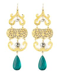 Devon Leigh | Blue Quartz & Jasper Chandelier Earrings | Lyst