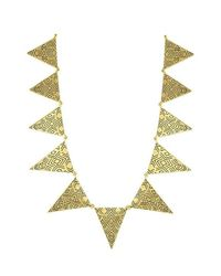 House of Harlow 1960 | Black Triangle Theorem Collar Necklace | Lyst