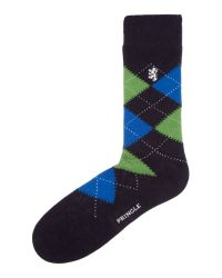 Pringle of Scotland - Blue Plain Dress Socks for Men - Lyst