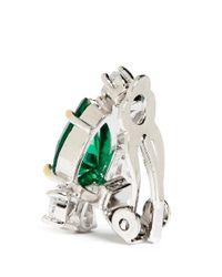 CZ by Kenneth Jay Lane - Green Pear Cut Cubic Zirconia Earrings - Lyst