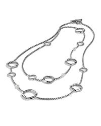 David Yurman | White Infinity Station Necklace With Pearls | Lyst
