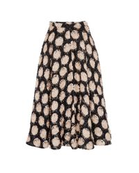 N°21 - Black Guenda Polka Dot Skirt - Lyst