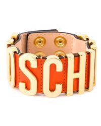 Moschino | Orange Logo Plaque Bracelet | Lyst