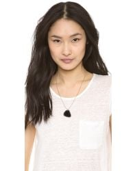 Marc By Marc Jacobs | Metallic Guitar Pick Necklace Black Glitter | Lyst