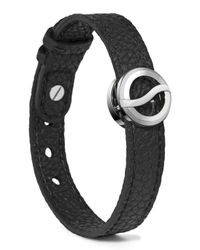 Philip Stein - Black Leather Horizon Bracelet for Men - Lyst
