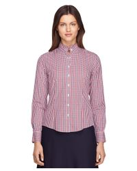 Brooks Brothers - Petite Non-iron Tailored Fit Ruffle Collar Dress Shirt - Lyst