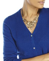 In Cashmere - Blue Petite V-Neck Knit Cardigan - Lyst