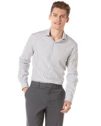 Perry Ellis | Gray Striped Shirt for Men | Lyst