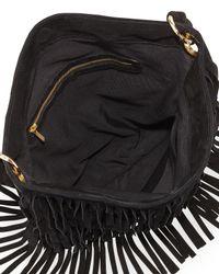 Mr. - Black Hudson Suede Fringe Shoulder Bag  - Lyst