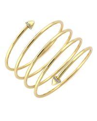 BCBGeneration | Metallic Goldtone Coil Bracelet | Lyst