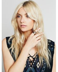 Free People | Black Caged Cuff Ring | Lyst