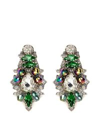 Assad Mounser | Multicolor 'aludra' Swarovski Crystal Earrings | Lyst
