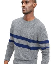 Banana Republic | Gray Bold-stripe Crew Pullover for Men | Lyst