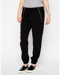 SELECTED | Black Bello Rib Pants | Lyst