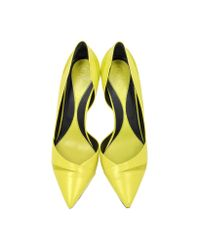 McQ - Yellow The Lex Nappa Lime Pump - Lyst