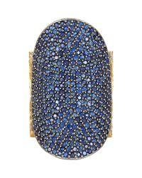 Sara Weinstock - Metallic Pavé Sapphire & Pavé Diamond Saddle Ring - Lyst