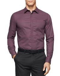 Calvin Klein | Purple Hidden Button Sportshirt for Men | Lyst