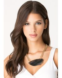Bebe - Black Agate Short Necklace - Lyst