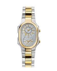 Philip Stein | Metallic Signature Two-tone Watch On Interchangeable Stainless Steel Bracelet for Men | Lyst