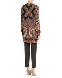 Etro | Printed Silk Tunic - Multicolor | Lyst