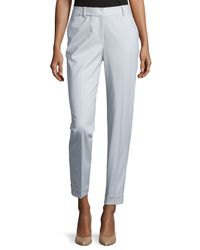 Lafayette 148 New York - White Perry Slim Cuffed Suiting Pants - Lyst