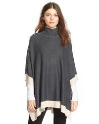 Splendid | Gray Turtleneck Poncho | Lyst