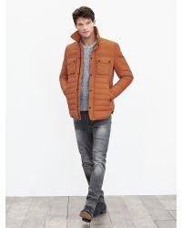 Banana Republic   Orange Primaloft Shirt Jacket for Men   Lyst
