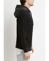 Forever 21 - Black Reverse French Terry Hoodie for Men - Lyst