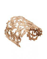 Bernard Delettrez | Metallic Multi Butterflies Flat Cuff Bracelet | Lyst