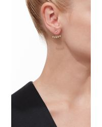 EF Collection - Metallic Gold Diamond Bezel Diamond Ear Jackets - Lyst