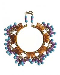 Kirsty Ward - Blue Wire Looped Round Necklace With Crystals - Last One - Lyst