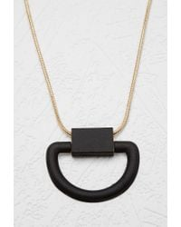 Forever 21 - Metallic Half Circle Statement Necklace - Lyst