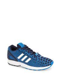 Adidas - Blue 'Zx Flux Techfit' Sneaker for Men - Lyst