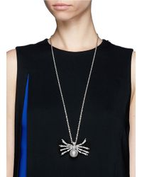 Kenneth Jay Lane | Metallic Crystal Pavé Spider Necklace | Lyst