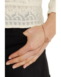 Arme De L'Amour   Metallic Rose Gold-plated Finger Bracelet   Lyst
