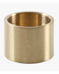 Marmol Radziner | Natural Lightweight Solid Double Wide Ring | Lyst