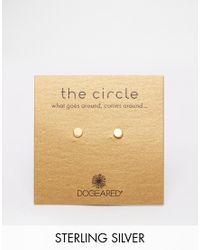 Dogeared | Metallic Gold Plated The Circle Slim Stud Earrings | Lyst
